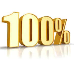 Логотип 100%